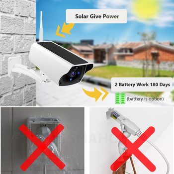 Solar WiFi IP Camera 1080P HD Outdoor Charging Battery Wireless Security  Camera PIR Motion Detection Bullet Surveillance CCTV 2