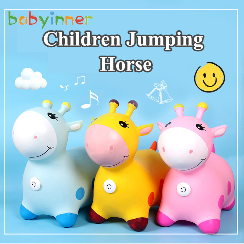 Babyinner Ride on Animal Toys Children's Inflatable Non-slip Jumping Horse Baby Outdoor Sports Toys Increase Thickening Pony