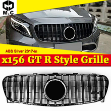 GLA Class X156 GT R Grill GLA45 Style Silver Front Grille Fit for Mercedes Benz GLA180 GLA250 Without Sign Look grille 2017-in for mercedes benz gla x156 front grille silver abs gla45 amg gla180 gla200 gla250 without central logo front racing grille 14 16