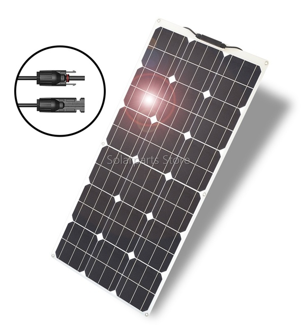 300W 2*150W Flexible  Solar Panel  20amp Charge controller No inverter 2
