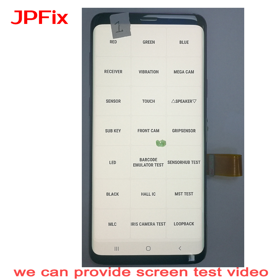 JPFix For Samsung S9+ G965F LCD Screen Leakage Shadow Display Curve Pantalla Complete Assembly Replacement With Frame S9 Plus