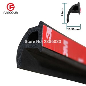 Image 1 - 1 Meter P Type 3M Adhesive Car Door Side Bottom Sealing Strip Sound Insulation And Dustproof Rubber Strip Essential Accessory