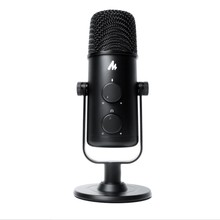 MAONO USB Mikrofon Kondensator Mic mit Stumm Taste, Monitor Kopfhörer Jack, Stecker und Spielen für Livestream, aufnahme, Gaming