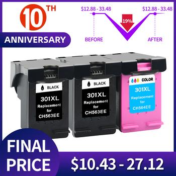 QSYRAINBOW do HP301 HP 301 XL kompatybilny do HP 2510 3510 D1010 1510 2540 4500 1050 2050 2050s drukarki tanie i dobre opinie Pełna For HP 301XL ( CH563E CH564E ) Re-produkowane Wkład atramentowy HP Inkjet 2BK+1C Re-manufactured Black Tri-color (C M Y)