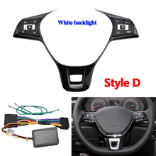 Multifunction Steering Wheel Button Switch Volume Button Audio Switch Phone Button For VW Golf Steering Wheel Kit
