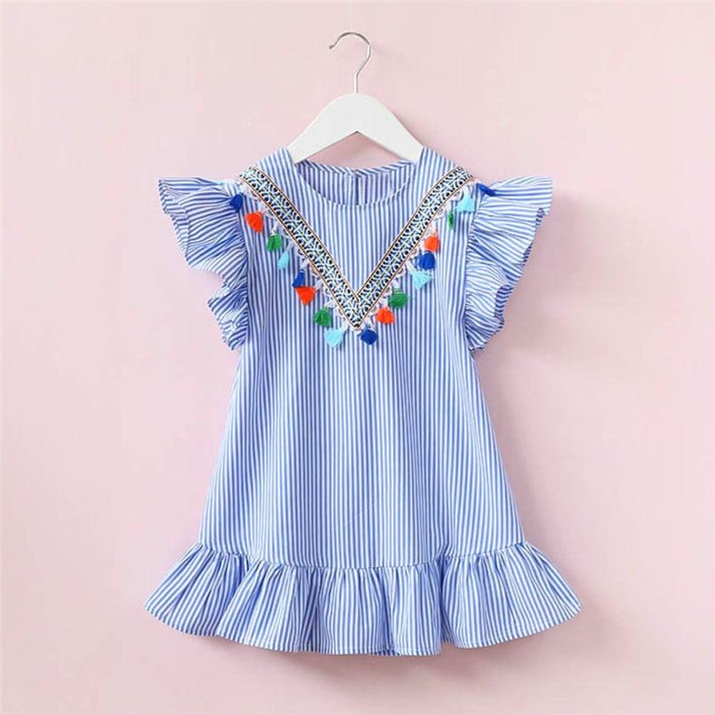 Lemon Girl Baptism New 2018 Sleeveless Kid Dresses Girls Party Princess Vestidos Nina 6 7 Year Cowboy Dress
