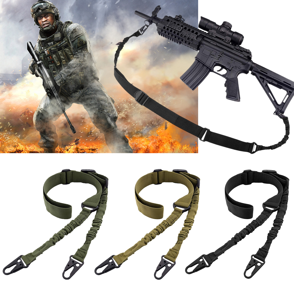 Tactical 2 Point Gun Sling QD Metal Buckle Shotgun Rifle Sling Strap Military Hunting Accessories Shoulder Strap Gun Belt D40