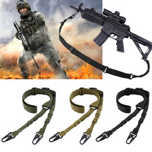 Tactische 2 Point Gun Sling Qd Metalen Gesp Shotgun Rifle Sling Strap Militaire Jacht Accessoires Schouderriem Pistool Riem D40(China)