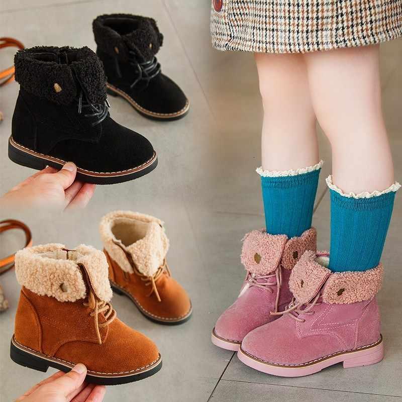 ฤดูหนาวใหม่เด็กรองเท้าเด็ก Hot Plush Elegant แฟชั่นชาย Martin รองเท้าน่ารักรองเท้าหลวม