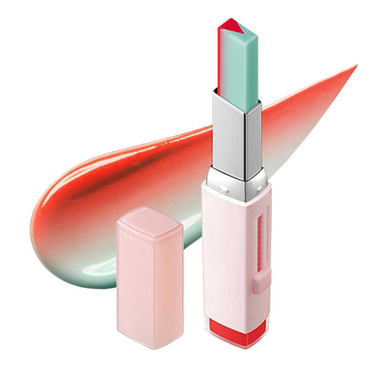 גבוהה אופנה קוריאני שפתון נשיכה V חיתוך שני טון גוון משיי Moisturzing מזין מזור שפתונים שפתיים קוסמטי גם