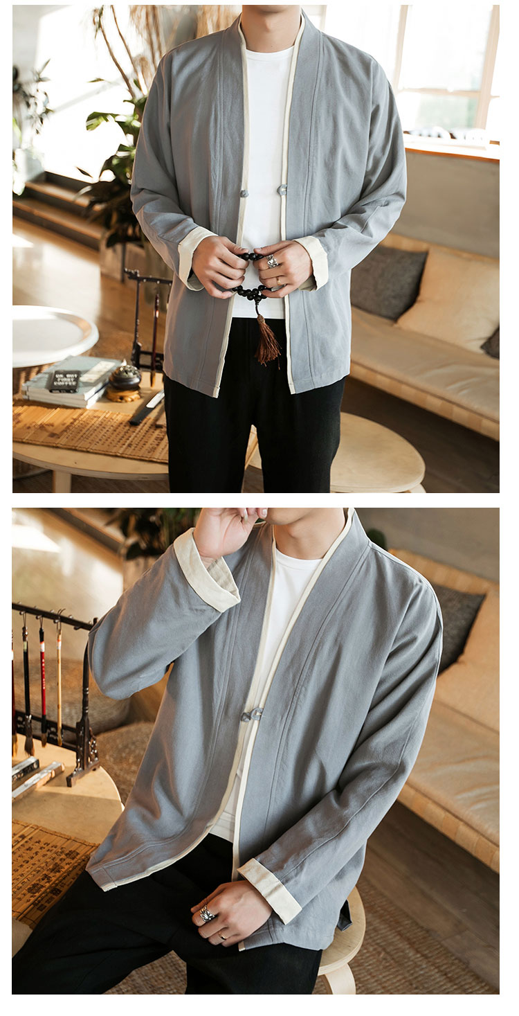 Sinicism Store Men Patchwork Shirt Streetwear Short Sleeve 19 Summer Harajuku Vintage Kimono Shirts Black Fashion Open Stitch 7