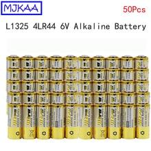 MJKAA 50 шт. 4LR44 L1325 6 в Первичная сухая щелочная батарея высокого качества батареи для автомобиля дистанционного часы игрушка калькулятор