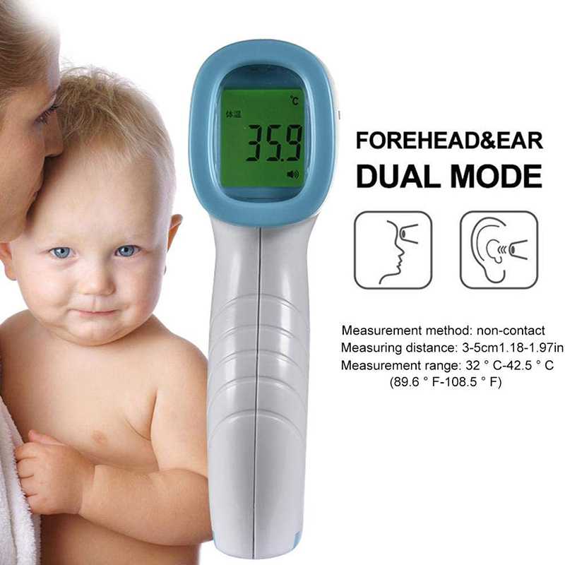 Adult Children Body Fever IR Thermometer Infrared Digital LCD Body Measurement Forehead Non-Contact Thermometer With HD Screen