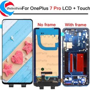"Image 1 - 6.67 ""ل OnePlus 7 برو LCD AMOLED شاشة عرض + محول رقمي يعمل باللمس مع الإطار ل OnePlus 7T برو LCD"