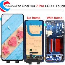 "Tela amoled de 6.67 ""para oneplus 7 pro, display lcd + digitalizador painel touch com moldura para oneplus 7t lcd pro"