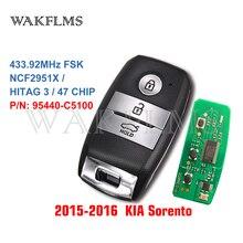 FOB 4F06 KIA Sorento 2015 2016 2017 Keyless Go 스마트 리모컨 키 Fob 433MHz ID47 95440 C5100 95440C5100