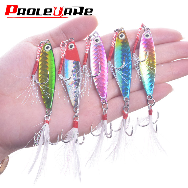 1Pcs Jigging Metal Spoon Spinner Fishing Lures Bass Tuna Lures Jig Lead Wobblers Pesca Tackle With Hooks Knife 7g 10g 15g 20g