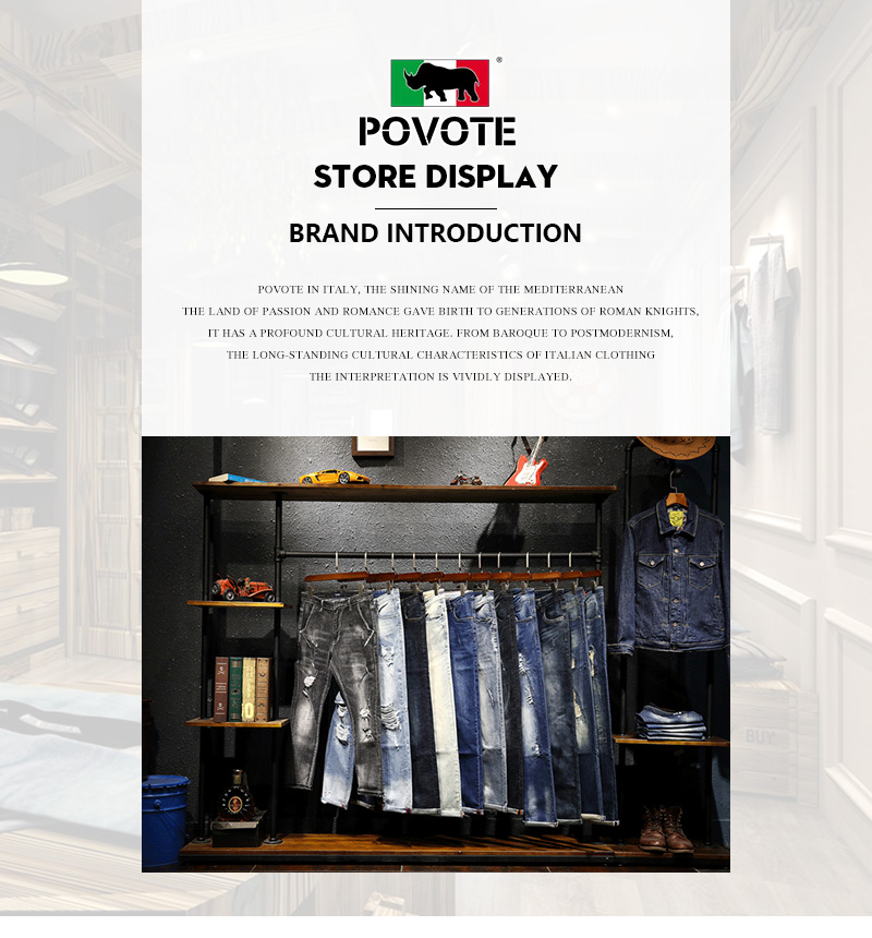 POVOTE brand men's casual pants autumn new fashion street pants Hip Hop Pants men's elastic waist loose overalls