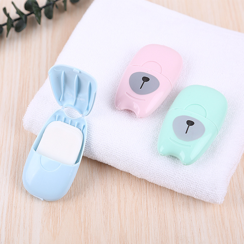 50 Sheets Soap Paper Portable Travel Accessories Multifunction Unisex Security Security Parts Suitcase Organizer Buckle