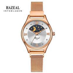 Switzerland Luxury Women Watches Moon Face Ladies Wristwatch Original Design Japan Quartz relógio feminino monther day gift