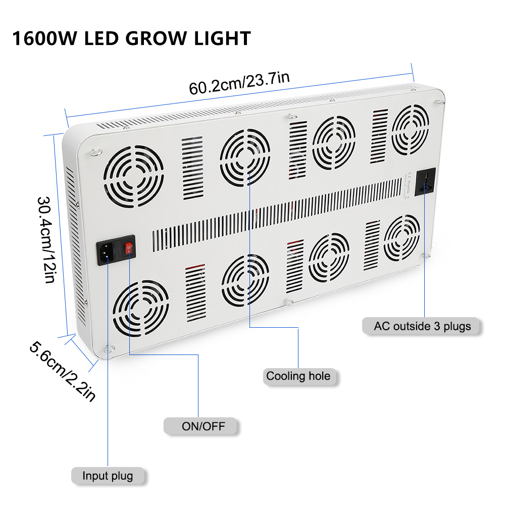 20W ~ 1600W Пълен спектър LED лампи за - Професионално осветление - Снимка 6