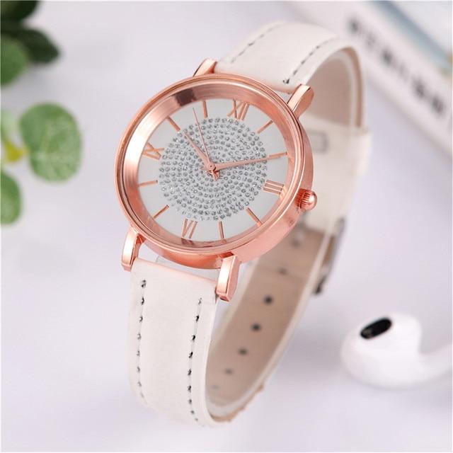 Fashion Women's Luxury Watches Quartz Watch Stainless Steel Dial Casual Bracele Quartz Wrist Watch Clock Gift Outdoor #40 6