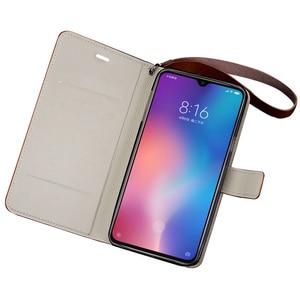 Image 3 - Flip Phone Case For Xiaomi Mi 5s Plus 6 8 9 lite 9se 9T Pro Case Oil wax skin Lanyard Cover