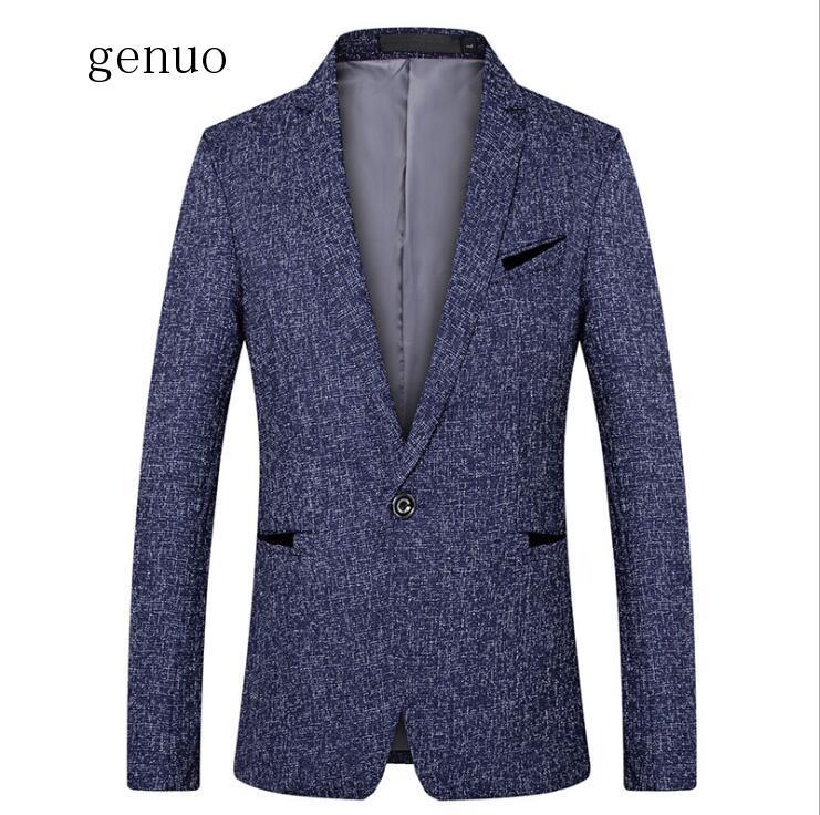 Men Suit Blazer Autumn Slim Fit One Button Suit Blazer Fashion Formal England Style Men Classic Wedding Suit Jackets