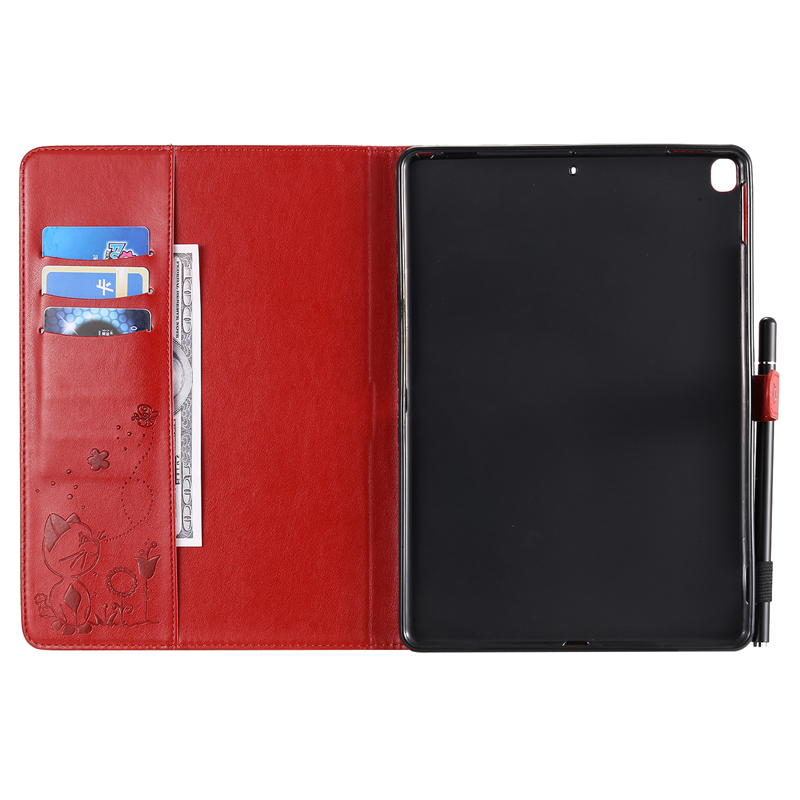 Cartoon A2200 for Apple 7th-Generation Cat Embossing iPad A2232-Cover-Case A2198 Cover