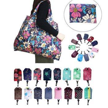 Горячая складывающиеся многоразовые Бакалея сумки ткань Бакалея Сумка-тоут моющиеся мешки полиэстера Складная в прилагается чехол Красочные