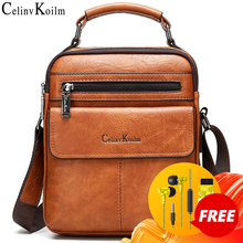 Celinv Koilm الرجال حقائب كتف كروسبودي حجم كبير انقسام الجلود حقيبة يد الموضة الأعمال حقيبة ساعي جودة عالية حمل الساخن