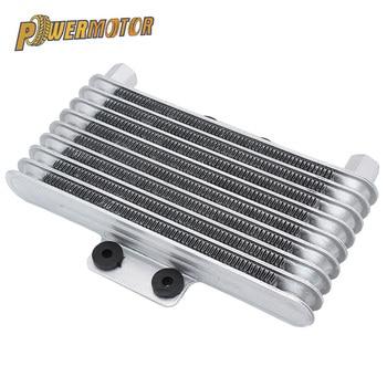 Motorcycle Oil Cooler Engine Radiator Aluminum 125ml Cooling Radiators for 125CC-250CC Dirt Bike ATV