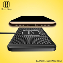 10W Car Wireless Charger Pad for Samsung S20 S10 iPhone 11 Pro Max 8 Plus Qi Wireless Car Charging Block Anti-Skid Pad Station