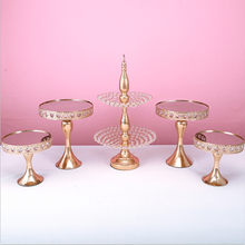 Cake-Stand-Set Dessert-Table Wedding-Tools Home-Decoration Crystal Metal 3-13pcs 2-Tier