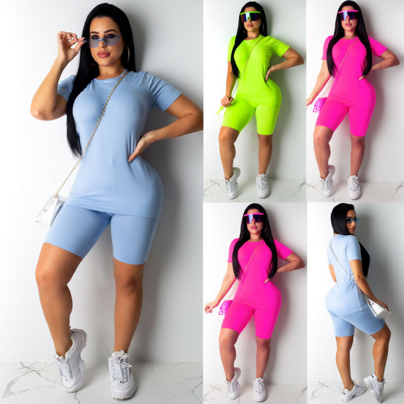 2PCS Set Women Sports Suit Crop Top Pants Outfit Soft Cotton Material Yoga Sports Set Workout Clothes Tracksuit