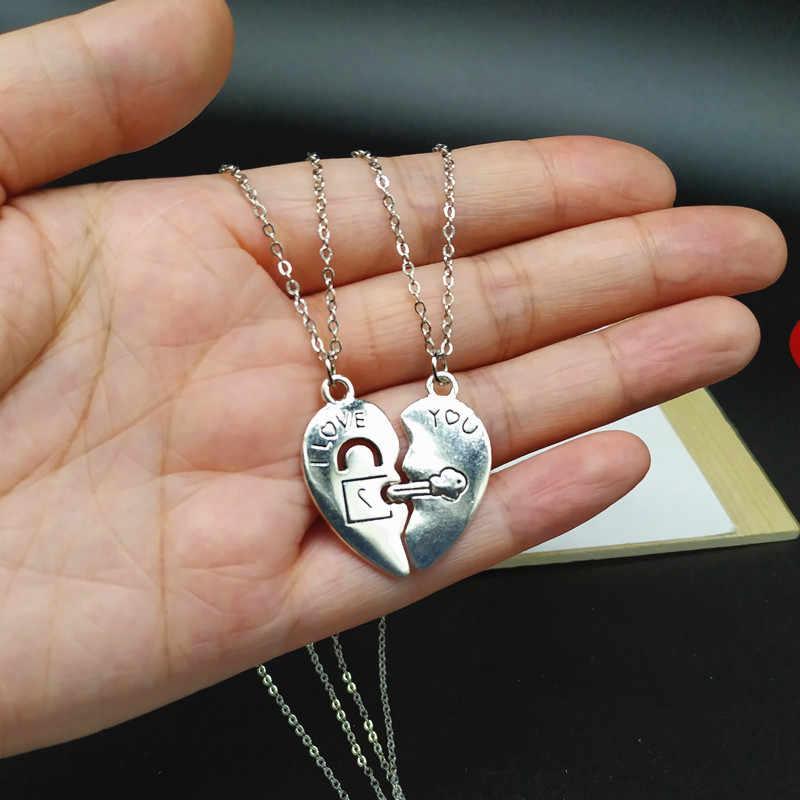 2 sztuk/partii przyjaciel naszyjnik Yin Yang wisiorek naszyjnik dla par prezent dla przyjaciela biżuteria hurtowych