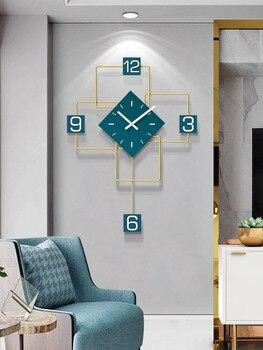 Reloj De Pared De diseño moderno Hoshine marca decoración del hogar Klok...