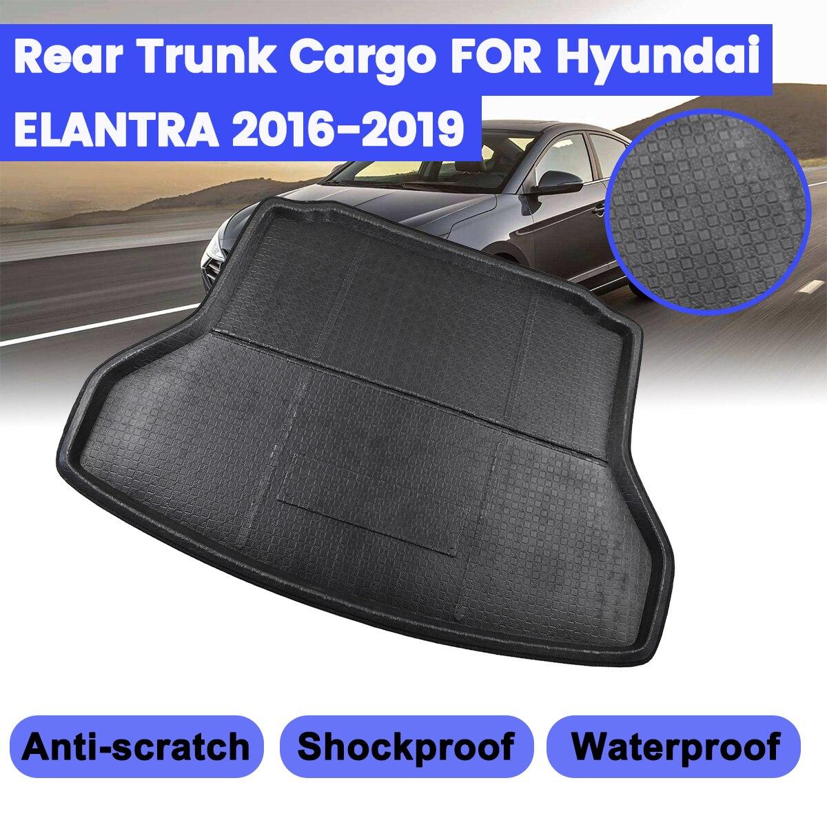Rear Trunk Tray Cargo Mat Floor Protector For Hyundai Elantra Avante 2016-2019