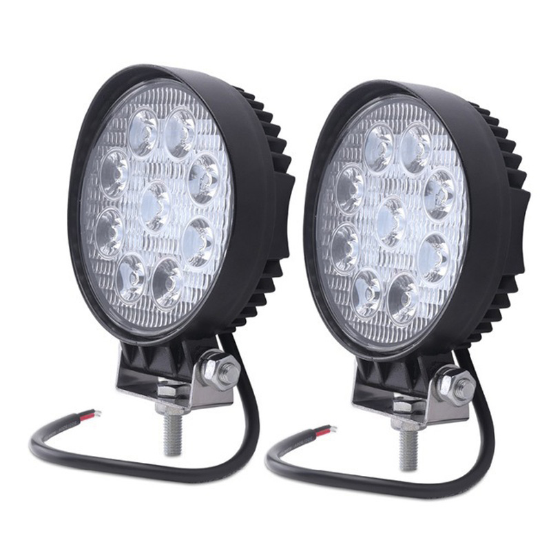 2pcs 4inch 27w Led Work Light 12v Offroad 4x4 Car Trucks Flood Spot Beam 24v 27w Led Working Lights Auto Fog Driving Lamp