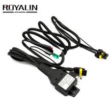 ROYALIN автомобильный стиль реле жгут 12 В для H1 H4 D2S H7 линзы проектора bi xenon Hi/Lo луч проводки контроллер w/защита предохранителя