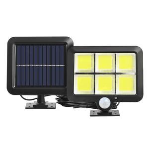 IP65 Waterproof 3 Modes 120LED Solar Light PIR Motion Sensor Outdoor Path Powered Solar Wall Light Split Street Garden Lamps