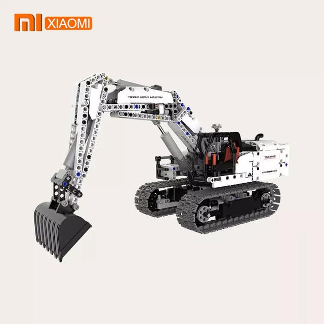 Xiaomi อาคารบล็อกวิศวกรรม Excavator Xiaomi เด็กของเล่นวิศวกรรมขุดเครื่องจักรอาคารบล็อกของเล่นของขวัญ