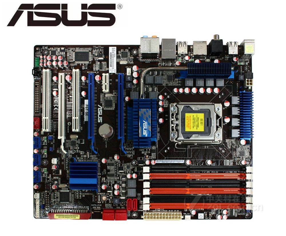ASUS P6T SE Original Motherboard X58  DDR3 LGA 1366 USB2.0 SATA II 24GB X58 USED PC Desktop Motherboard