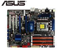 Asus p6t se original placa-mãe x58 ddr3 lga 1366 usb2.0 sata ii 24 gb x58 usado computador desktop placa-mãe