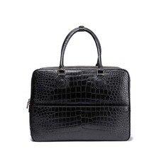 ourui новое прибытие крокодиловой кожи мужчины сумка мужчины портфель черный из натуральной крокодиловой кожи бизнес-пакет мужчины сумку