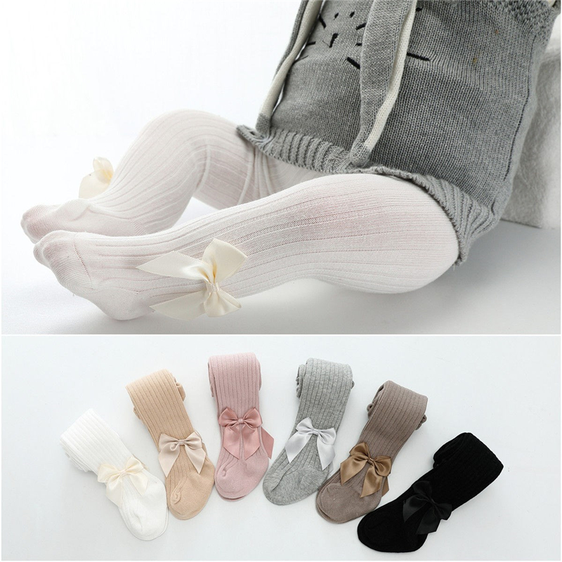 Cute Tights For Baby Girls Spring Summer Candy Color Children Pantyhose Ribbed Stockings Cotton Knitted Baby Girl Tights Kids 3
