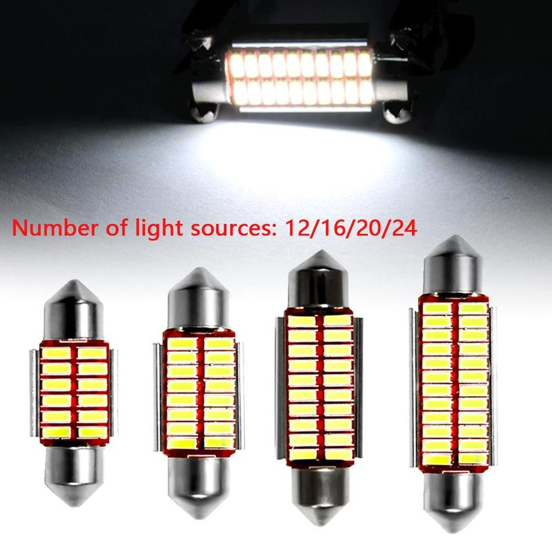 Hot Sale Car <font><b>LED</b></font> Light 31mm 36mm 39mm 41mm <font><b>LED</b></font> <font><b>Bulb</b></font> Super Bright Automobile Interior Reading Lamp Signal Lights Car Styling Lamp image