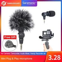 Saramonic SR-XM1 Plug & play Mini TRS Condenser Microphone for Camera, Camcorder, Audio Mixer, Handy Recorder,Osmo Pocket