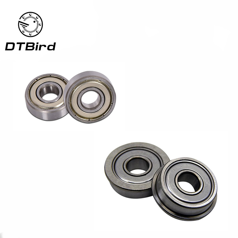 10pcs mr105zz 604zz 606zz 608zz 623zz 624zz <font><b>625zz</b></font> 626zz 635zz 685zz 698zz Deep Groove Ball Bearing Flanged Pulley Wheel image