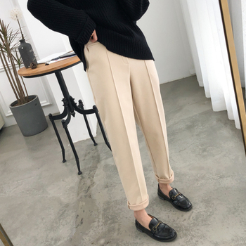 Warm Thicken Winter Women Suit Pants Elastic Waist Women Pencil Pants Plus Size Office Ladies Long Pants Elegant Women Trousers 5